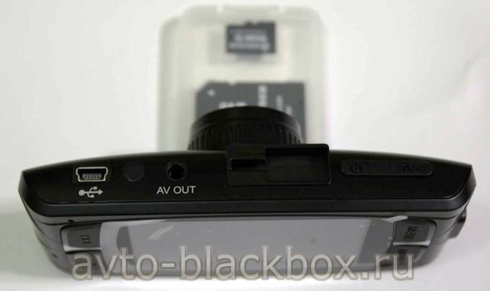 Подключение кабелей USB и AV OUT на верхней панели корпуса