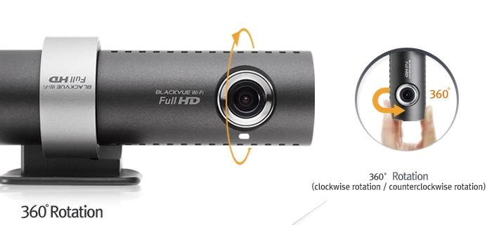 Кронштейн для BlackVue DR500GW-HD Wi-Fi оснащен механизмом быстрого снятия регистратора