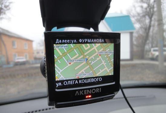 Akenori 1080 X включен в режим навигатора