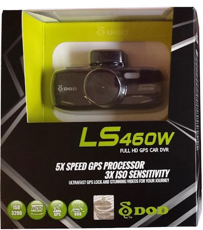 Упаковка автомобильного регистратора DOD LS460W