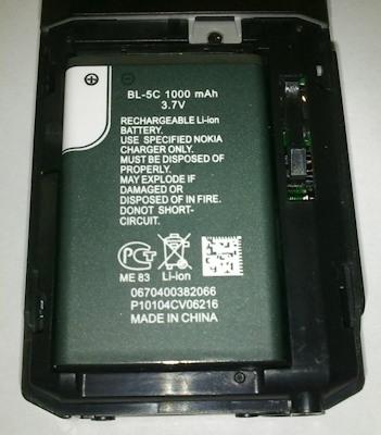 Нокиевская батарея имеет достаточно большую емкость - 1000 мА/ч