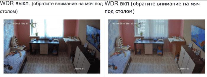 Функция WDR в видеорегистраторе