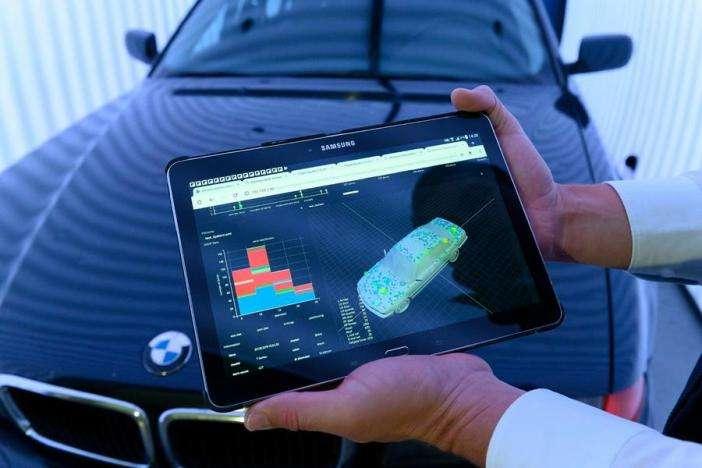 Сканер для проверки кузова автомашин